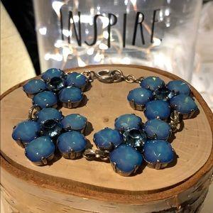 Rare Catherine popesco bracelet blue flowers